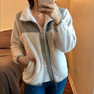 Grey/white Northface jacket